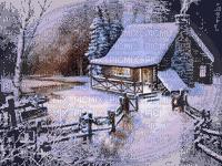 paysage d'hiver  chalet