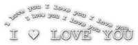 soave text deco with love valentine's day white