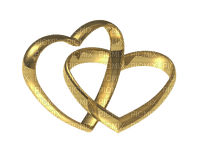 Kaz_Creations   Wedding Deco Gold Heart Love Rings