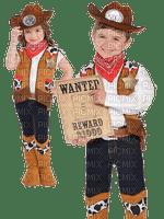 cowboy couple childs enfant