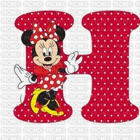 image encre lettre H Minnie Disney edited by me