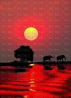 image encre paysage le coucher du soleil edited by me