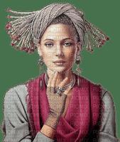 Woman Gray Violet Beige  - Bogusia