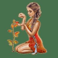woman femme frau summer garden