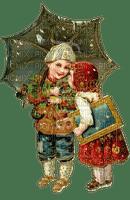 Kinder, Schirm, Winter