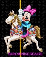 image encre couleur  anniversaire effet cheval fantaisie Minnie Disney  edited by me