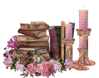 books candles and flowers, Joyful226
