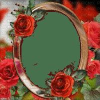 red roses frame rouge rose cadre
