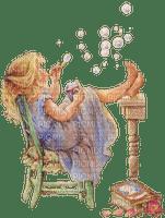 enfant des boules de savon child  soup bubbles