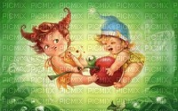 babies playing with apple