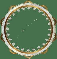 frame circle white gold cadre blanc or
