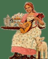 Lady, Ladies, Woman, Women, Female, Femme, Fille, Girl, Girls, Picnic, Sheep, Baby Lamb - Jitter.Bug.Girl