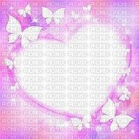 Fond rose Coeur rose papillon blanc