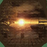 bateau paysage coucher de soleil sail boat sunrise landscape