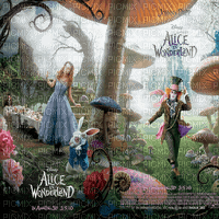 alice in wonderland transparent bg Disney  movie  fond