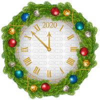 2020 new year clock deco