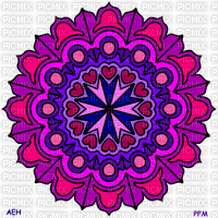 FESTIVAL PURPLE AND PINK MANDALA