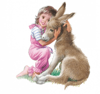 Kaz_Creations Baby Enfant Child Girl Donkey