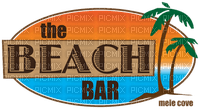 beach bar logo banner bar de plage texte