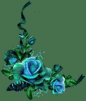 bleu fleur deco blue flower border