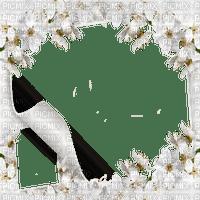 white wedding frame