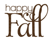 Happy Fall.Text.Brown.Victoriabea
