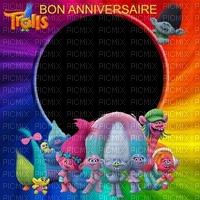 image encre bon anniversaire couleur effet Trolls  edited by me