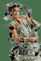 femme robe billets woman banknotes money  dress