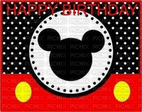 image ink happy birthday Mickey Disney polka dot edited by me