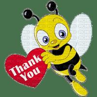 Kaz_Creations Cute Cartoon Love Bees Bee Wasp Text Thank You
