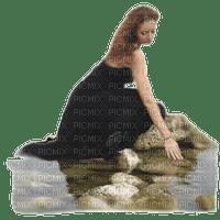 kvinna-vatten-sitter--woman--water