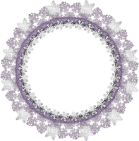 winter circle frame snow cadre hiver neige