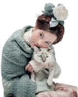 WOMAN WITH CAT  FEMME CHAT