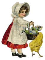 easter Pâques Paques ostern egg eggs oeufs oeuf tube deco child fille girl bebe vintage chick poussin person human
