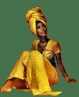 kvinna-gul-afrika