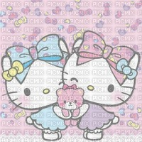 Soeurs fond hello kitty background sisters