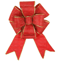 Noeud ruban rouge doré or red golden ribbon