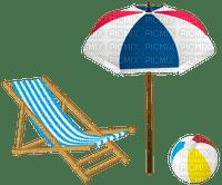 deck chair stuhl chaise ball furniture sea beach plage tube parasol umbrella bouclier   strand summer ete deco