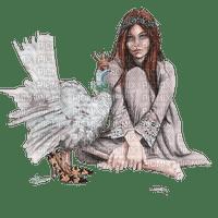 kikkapink woman fantasy bird