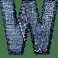 Jeans Blue Alphabet - Bogusia