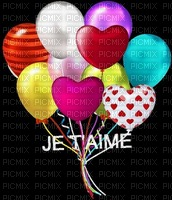 image encre couleur ballons je t'aime coeur edited by me