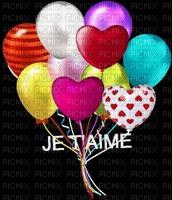 image encre couleur ballons je t'aime coeur edited by me