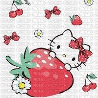 Fraise fond hello kitty background strawberry
