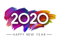 new year 2020 silvester number  text la veille du nouvel an Noche Vieja канун Нового года colorful tube