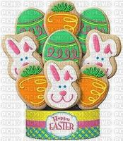 joyeuses pâques biscuits art arrangement