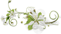 Decoración flores blancas