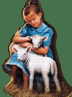 child girl lamb  enfant fille agneau 👧