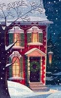 Winter, Haus, Tür, Hintergrund