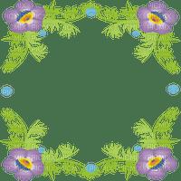 cadre fleur violet frame flowers