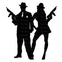 gangster couple silhouette
